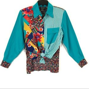 Vintage Koos of Course! 100% silk shirt size S